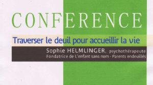 Conférence avec Sophie Helmlinger