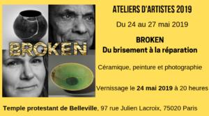 Tout doit apparaître, le temple de Belleville est un atelier d'artiste du 24 au 27 mai 2019