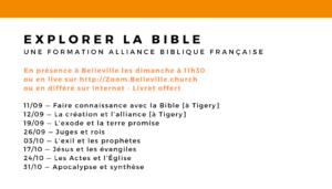 Venez «Explorer La Bible»